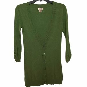 Green Cardigan Mossimo Supply CO XS